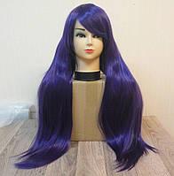 Парик женский фиолетовый длинный аниме карнавальный косплей cosplay прямой ровный