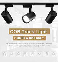 Светильник светодиодный трековый на шинопровод DL30-006 LED 30W 6500К  черный, фото 6