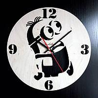 Настенные деревянные часы Shasheltoys  Диаметр 35 см (090117)
