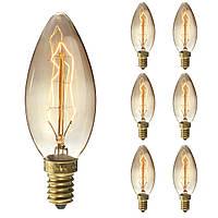 6 ШТ. Elfeland Dimmable E14 25 Вт Ретро Эдисон Винтаж Лампа накаливания для внутреннего Сад AC220V - 1TopShop