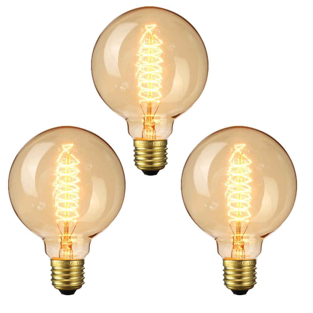 3 ШТ. Elfeland AC220-240V 2200 К E27 G95 40 Вт Ретро Эдисон Лампа накаливания для внутреннего Домашнего Использования - 1TopShop