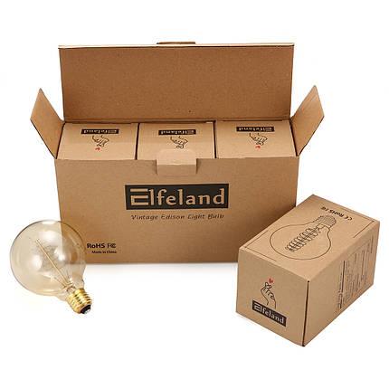3 ШТ. Elfeland AC220-240V 2200 К E27 G95 40 Вт Ретро Эдисон Лампа накаливания для внутреннего Домашнего Использования - 1TopShop, фото 2