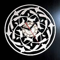 Настенные деревянные часы Shasheltoys  Диаметр 35 см (090114)