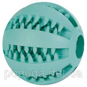 """Игрушка для собаки """"Мяч для бейсбола"""" Denta Fun, ф 5 см, резина, зелёный"""