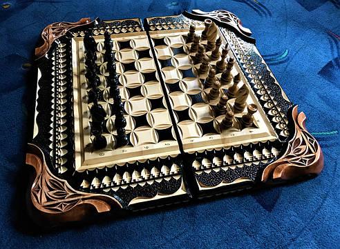 Шахматы-нарды ручной работы, фото 2