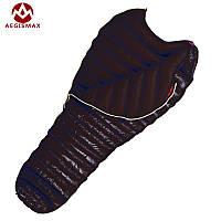 Спальный мешок пуховый Aegismax UL-Wing. +11°C +6°C. Размер L. 800 FP кокон черный.
