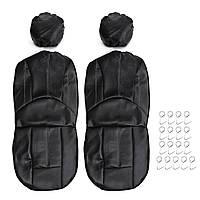 4шт / комплект универсальный искусственная кожа Авто переднее сиденье дышащий защитный чехол - 1TopShop