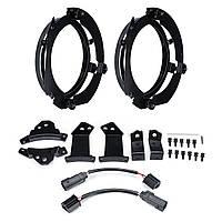 Пара 7 дюймов Круглый LED Кольцо для крепления фар с кабелем Набор Для Jeep JK Wrangler / Harley - 1TopShop