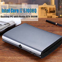 HYSTOUM1Мини-ПКIntelядроi7-6700HQ 4 ГБ + 64 ГБ 4 ГБ + 128 ГБ NVIDIA GTX 960M Win10 с вентилятором Тип-C S / PDIF 5G Wifi Bluetooth 4.0 HDMI-выход