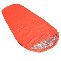 Сверхлегкий спальный мешок для экстренной помощи. Спасательное одеяло кокон.