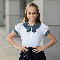 """Школьная блузка белая """"Б-6"""", фото 1"""