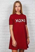 Женское платье футболка свободного кроя