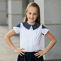 """Школьная блузка белая """"Б-8"""" , фото 1"""