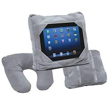 Дорожня подушка Go Go Pillow Сіра 3 в 1 підставка і чохол для планшета подушка підголовник Гоу Гоу Піллоу