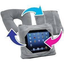 Дорожная подушка Go Go Pillow Серая 3 в 1 подставка и чехол для планшета подушка подголовник Гоу Гоу Пиллоу, фото 2