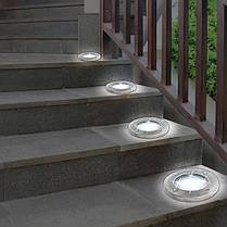 Солнечные уличные светильники Solar Disk Lights 4 шт | Светильник на солнечной батарее, фото 2