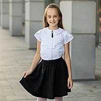 """Школьная блузка белая """"Б-13"""""""