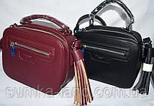 Женские прямоугольные клатчи, саквояжи 21*16 см (бордо и черный)