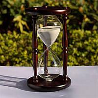 60 минут деревянный подарок часы таймер белый песок стекло песочные часы домашний офис декор - 1TopShop