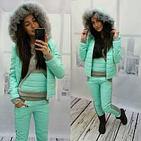 Женский зимний костюм-тройка в расцветках g-20mgk30