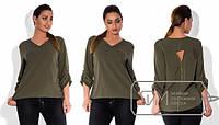 Женская блуза большого размера из креп-шифона в расцветках d-15mbr170