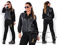 Женский спортивный костюм большого размера со стеганной курткой i-15mbr200