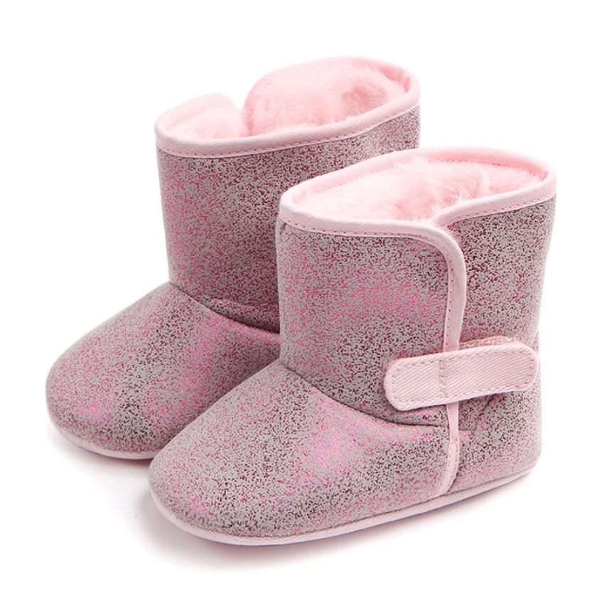 Теплые пинетки-сапожки для девочки.