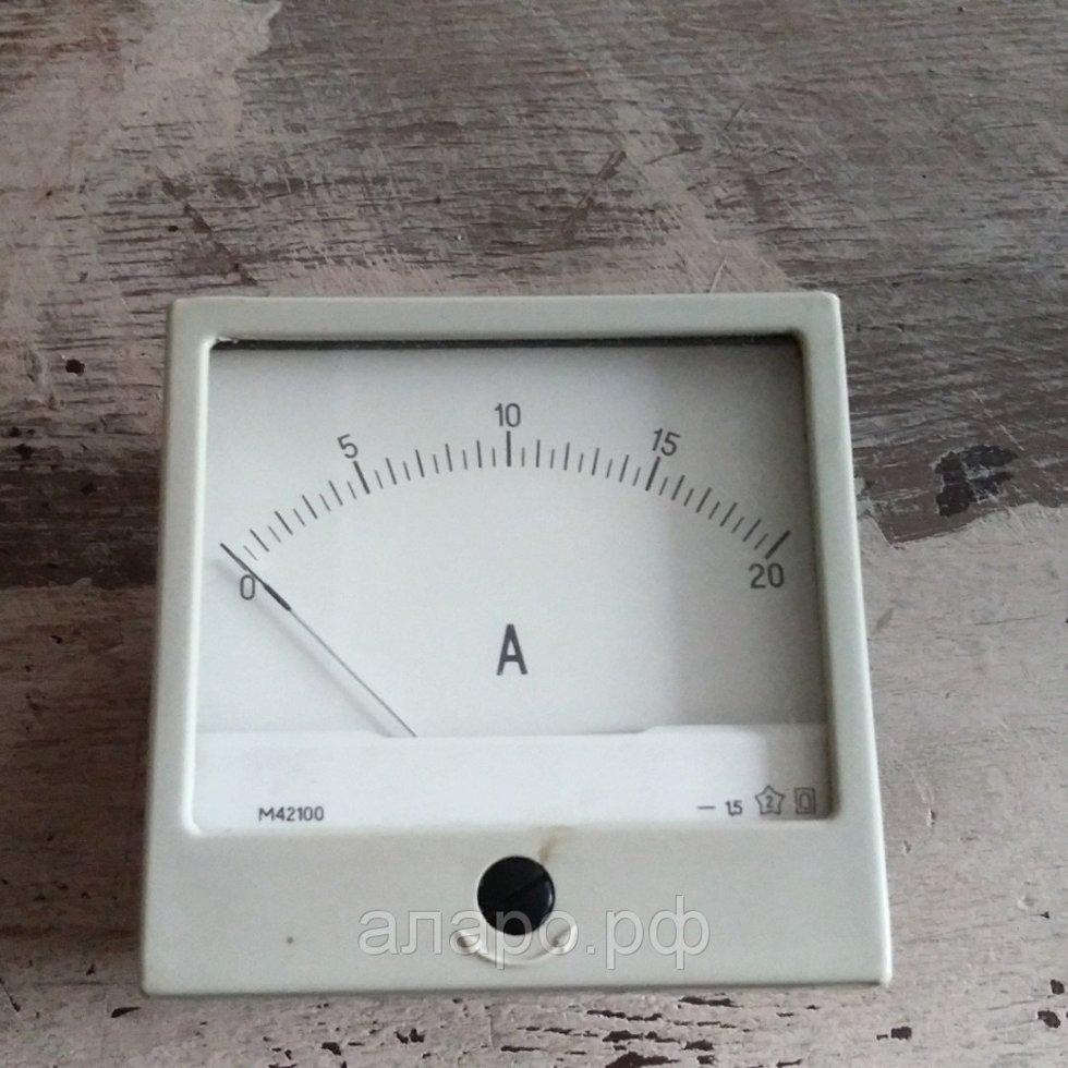 Амперметр М42100 0-20А
