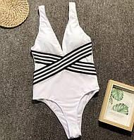 Белый женский купальник-монокини Vi