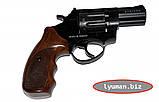 Револьвер под патрон Флобера Stalker 2,5 барабан-силумин (черная и коричневая ручка), фото 2
