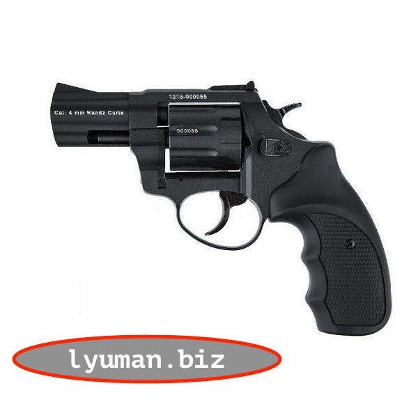 Револьвер под патрон Флобера Stalker 2,5 барабан-силумин (черная и коричневая ручка)