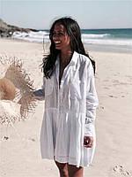 Пляжная туника-рубашка на пуговицах Vi