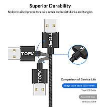 Магнитный кабель Lightning Topk для зарядки и передачи данных iPhone/iPad/iPod (Черный, 1м), фото 2