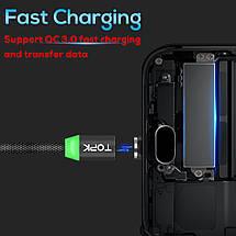 Магнитный кабель Lightning Topk для зарядки и передачи данных iPhone/iPad/iPod (Черный, 1м), фото 3