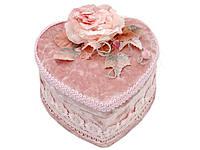 Шкатулка с зеркалом Розовая роза