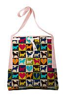 Женская сумка Абстракция с овчарками