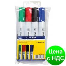 Набор 4 маркера для белых досок ECONOMIX в блистере E11803