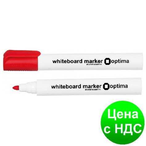 Маркер для белых досок OPTIMA, красный O16203-03, фото 2