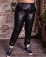 Женские кожаные брюки в больших размерах с ломпасами 10mbr605