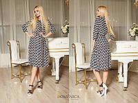 Принтованное платье рубашка длиной миди 31mpl1181, фото 1