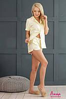 Женская пижама с шортами из хлопка 64mod49, фото 1
