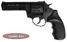 Револьвер под патрон Флобера Stalker 4,5 барабан - сталь (черная/коричневая ручка)