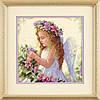 """Набір для вишивання хрестом """"Квітковий ангел//Passion Flower Angel"""" DIMENSIONS"""