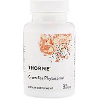Thorne Research,Зеленый  чай (Фитосомы), 60 капсул