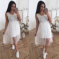 Платье без рукавов с фатиновой юбкой 40mpl1389, фото 1