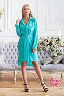 Платье-рубашка из шифона с асимметрией 64mpl1428, фото 1