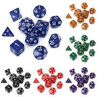 10шт / комплект TRPG игры игровые Обломки d4-d30 многогранной Кубики 6color - 1TopShop