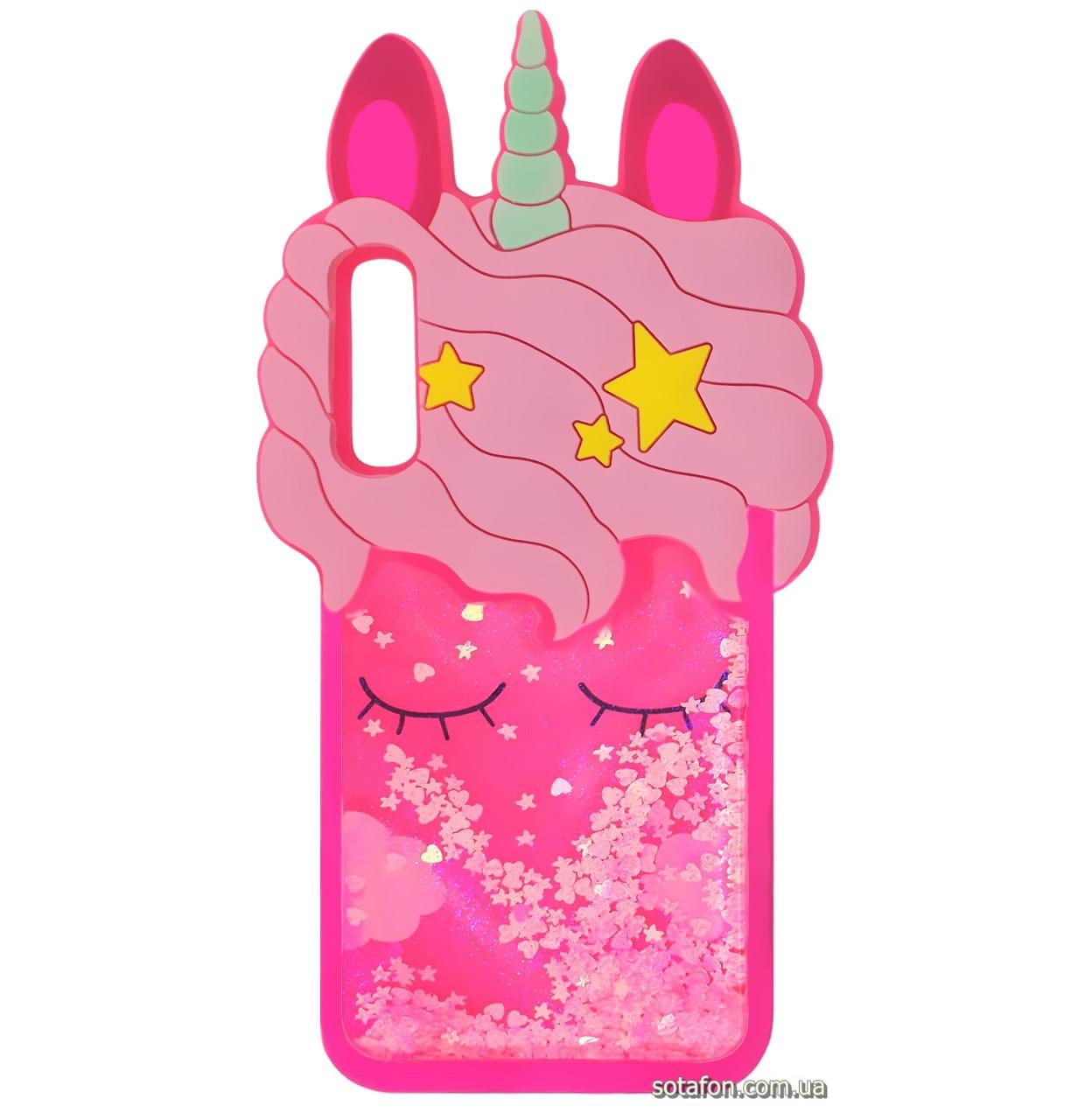 Чехол-накладка TPU 3D (Жидкий Блеск) Little Unicorn для Samsung Galaxy A50 (2019) SM-A505F