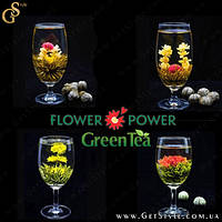 """Зеленый чай-цветок - """"Flower Power"""" - 4 шт. + мешочек!  , фото 1"""