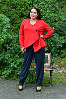 Женский брючный костюм с жакетом в больших размерах 10mbr984, фото 1